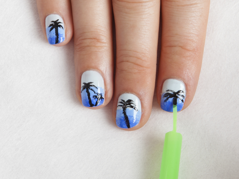 Comfortable Swirl Nail Polish Thin Nail Art Games For Kids Solid How To Do Nail Art Designs Step By Step Nail Art Tv Show Youthful Best Nail Polish Blogs PurpleNail Art Stickers Online DIY Nail Art: How To Do Tropical Palm Trees Using A Straw And Sponge