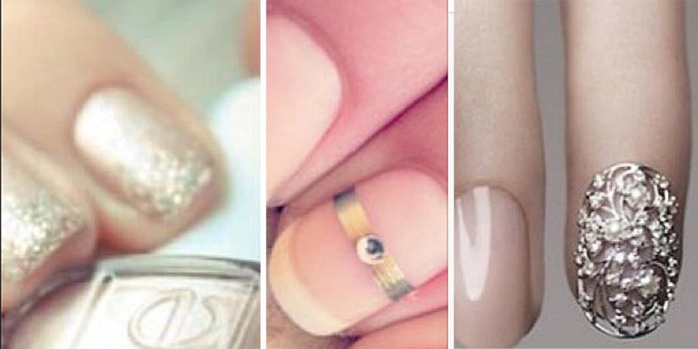 Fine Bridal Nails Ideas Festooning - Nail Art Design Ideas ...