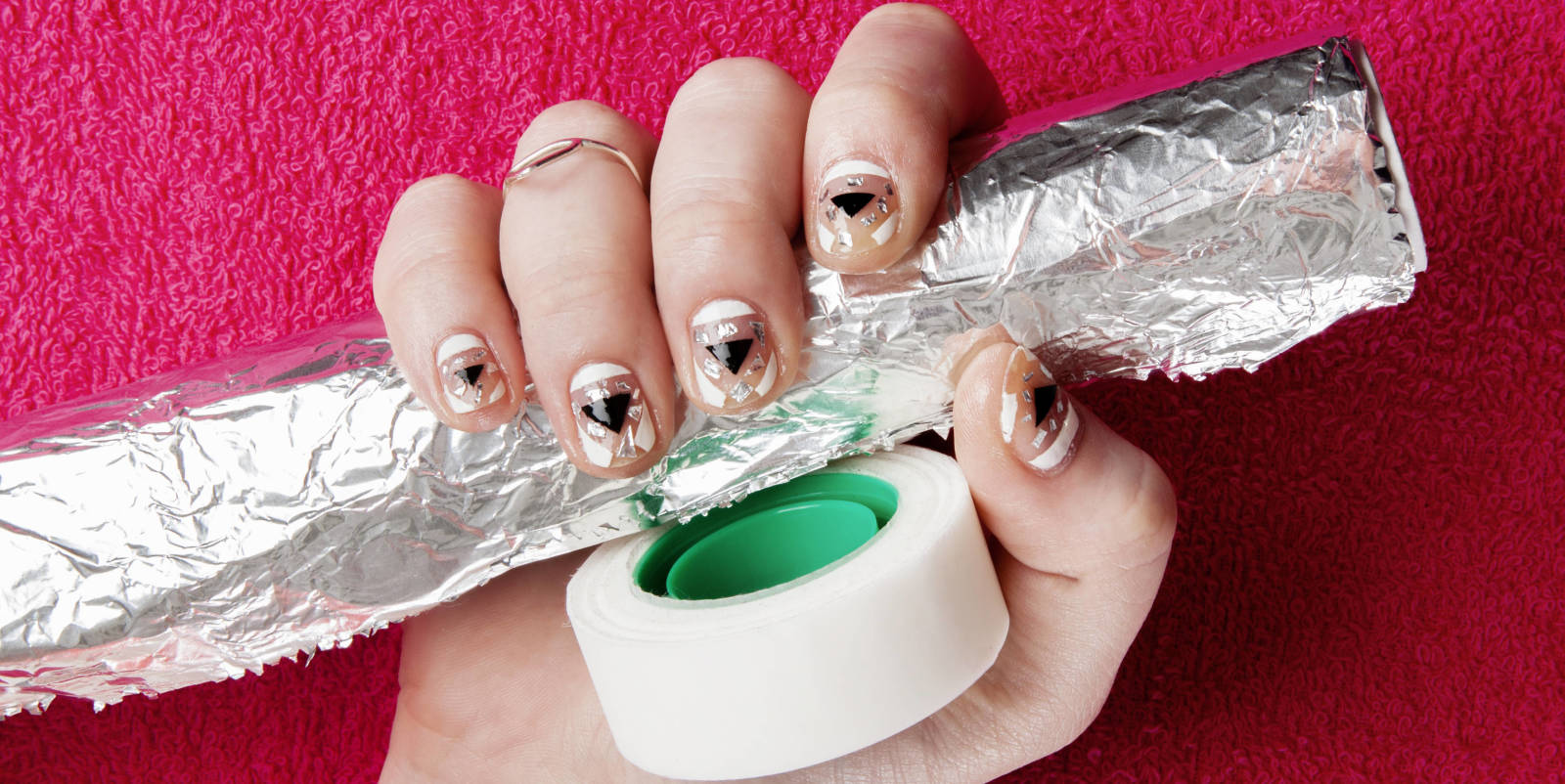 Scotch Tape Nail Art 3 Easy Designs Diy Nail Art Ideas Using