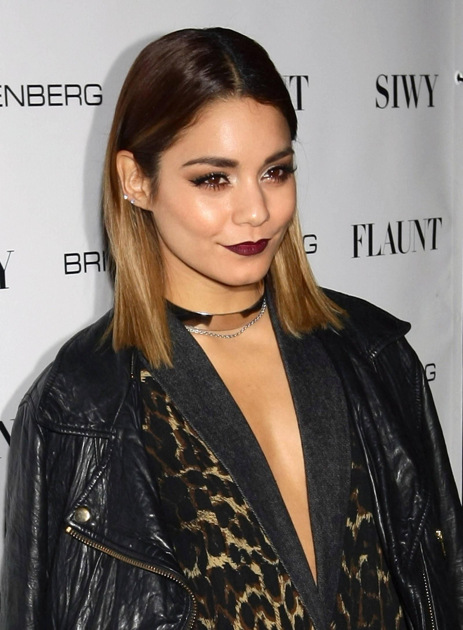 Vanessa Hudgens S Grunge Makeup Flaunt Magazine Party