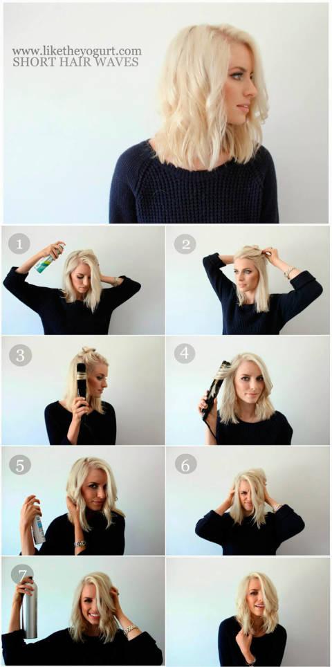 Fine 8 Lovely Short Medium Hair Tutorials You Should Steal From Pinterest Short Hairstyles Gunalazisus