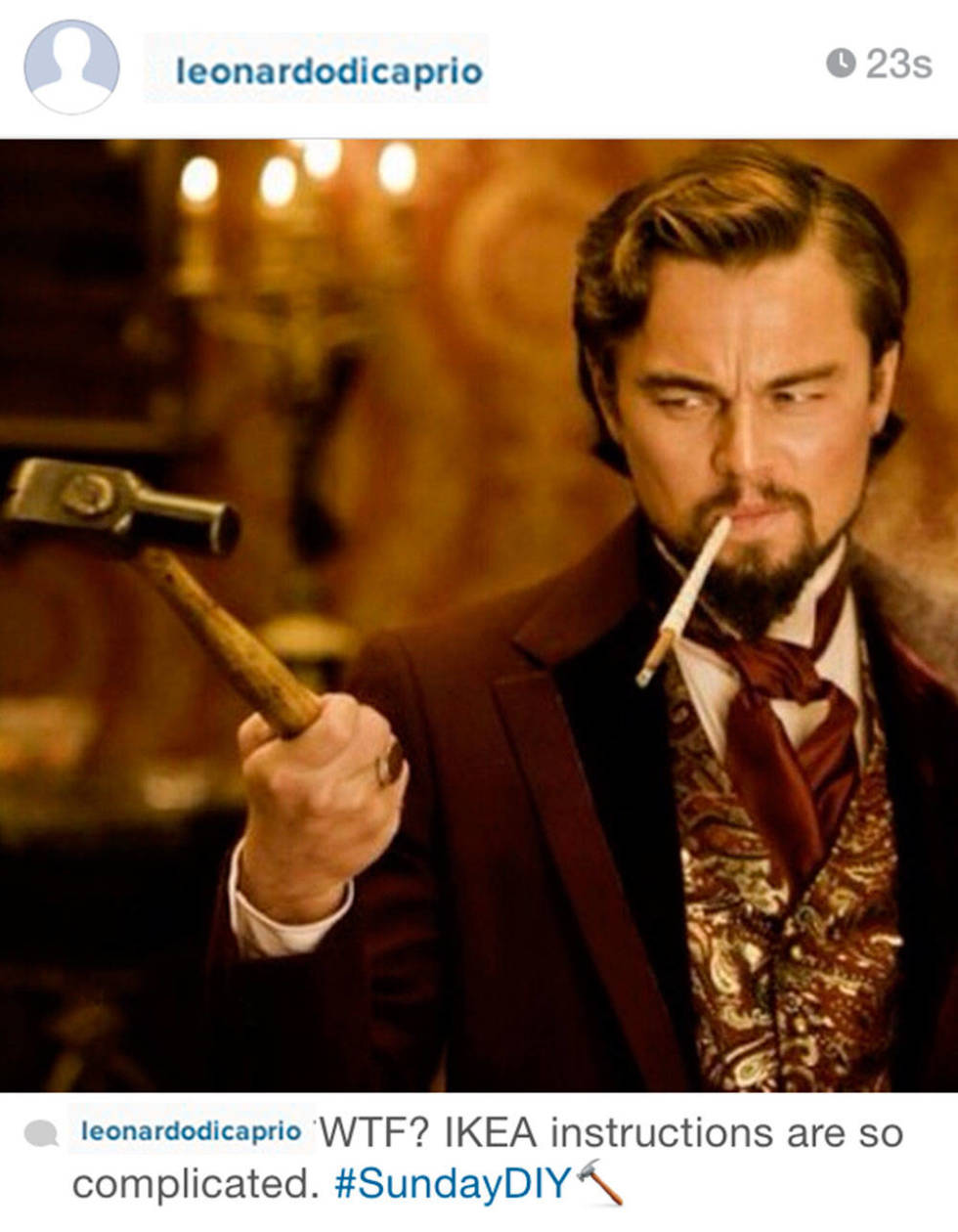 Leonardo DiCaprio joins Instagram and we're hoping for BIG ... Leonardo Dicaprio Instagram