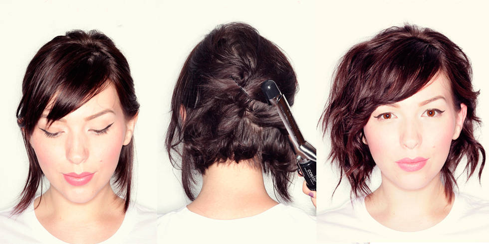 Terrific 8 Lovely Short Medium Hair Tutorials You Should Steal From Pinterest Short Hairstyles Gunalazisus