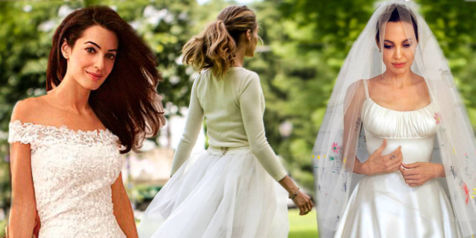 The eight best celebrity wedding dresses of 2014 for Celebrity wedding guest dresses