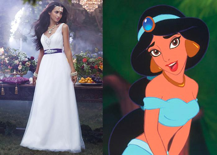 The disney princess wedding dress collection is a thing for Jasmine wedding dress disney