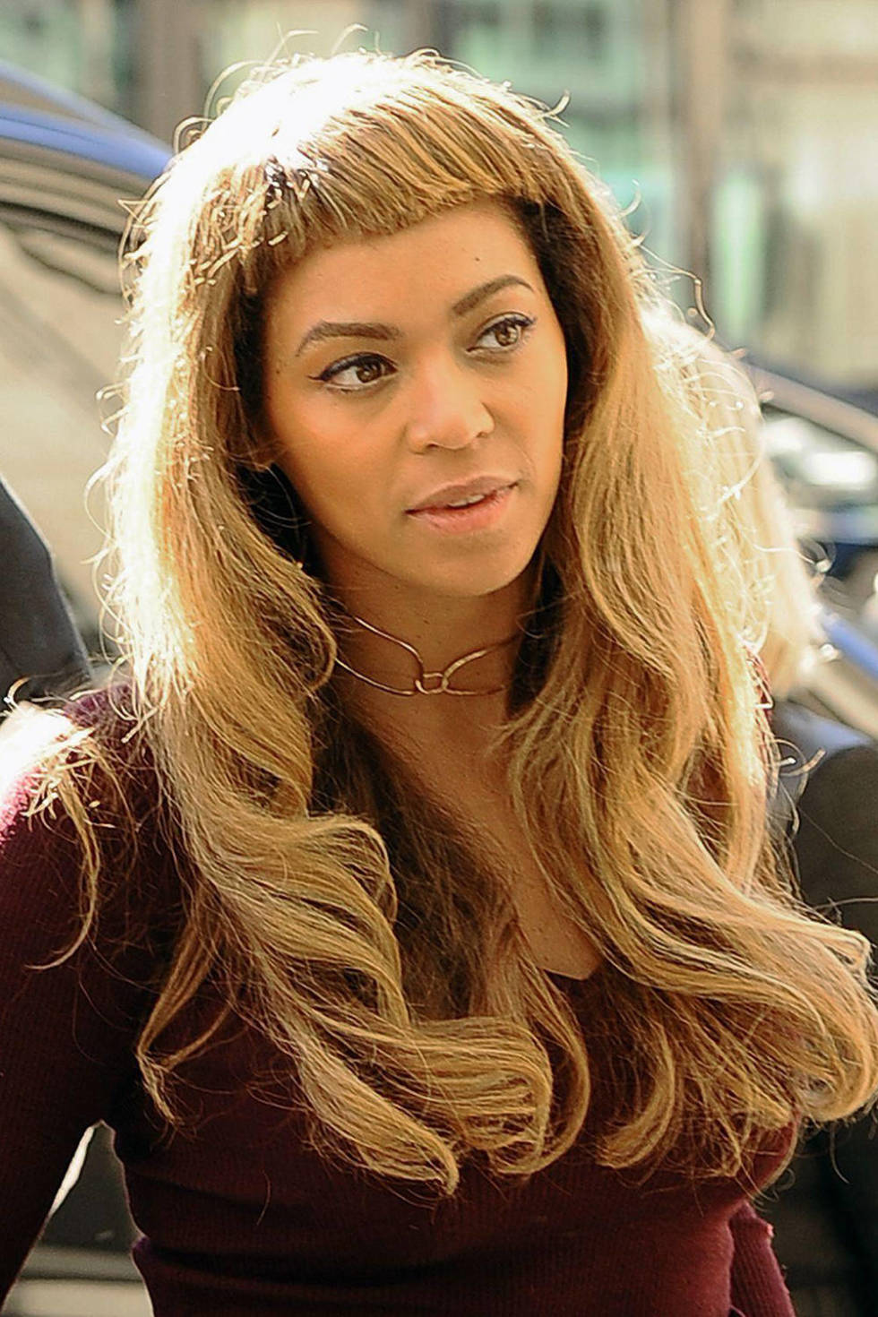 Beyonce S New Blunt Fringe Pictures