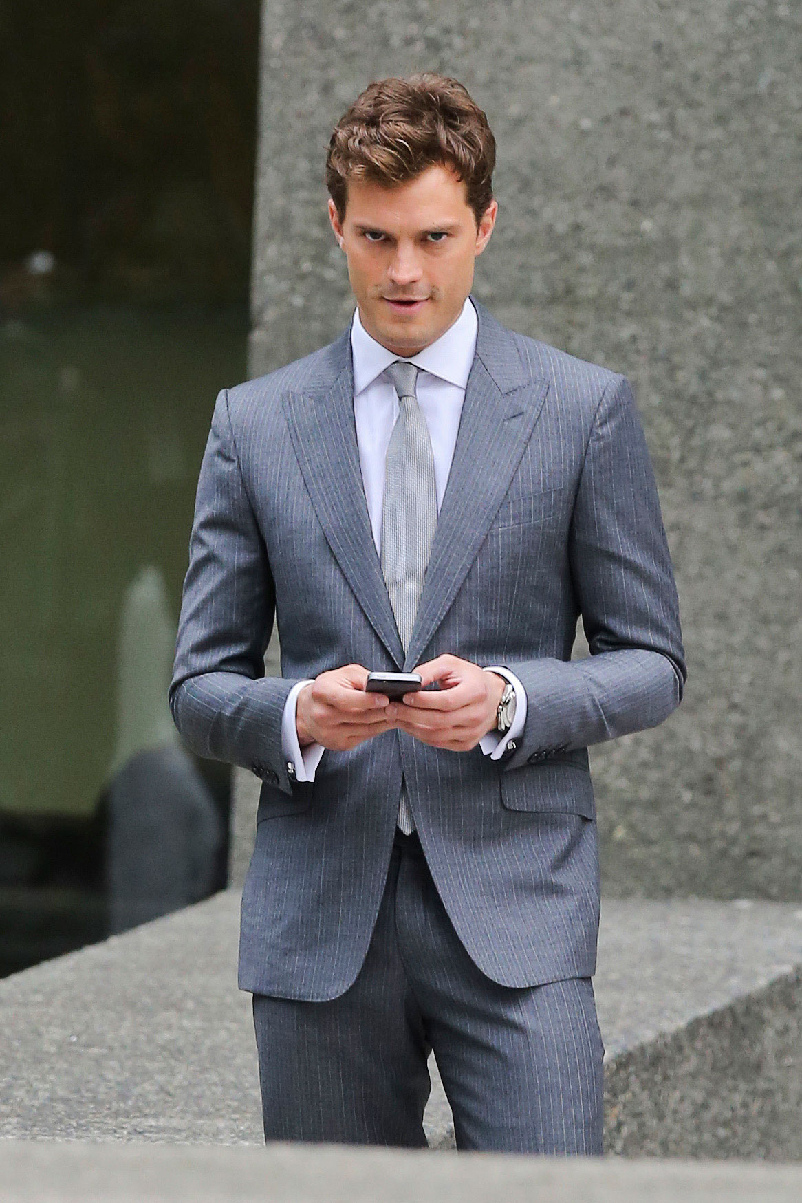 pictures of jamie dornan on fifty shades of grey film set. Black Bedroom Furniture Sets. Home Design Ideas
