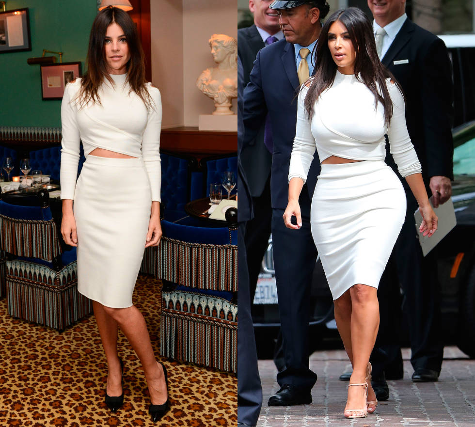 Julia Restoin-Roitfeld did the unthinkable this month and opted to wear a white two piece previously worn by one Kim Kardashian. Those are some big boots to fill! Of course, both ladies look exceptional in the luxe look, even if Kim did wear hers down the shops...