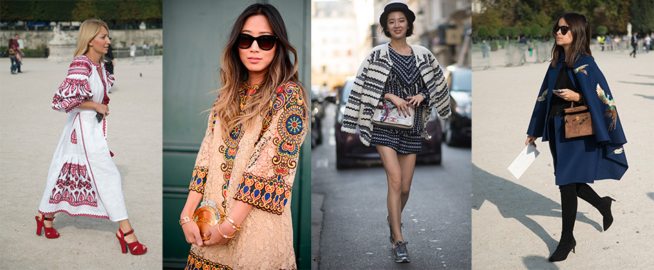 folk bohemian street style paris fashion week how to wear