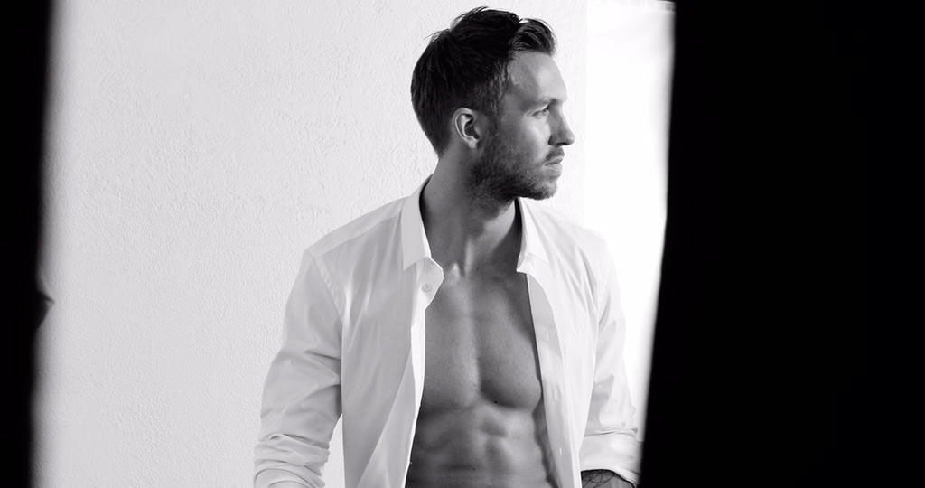 calvin harris shirtless armani advert features so many abs