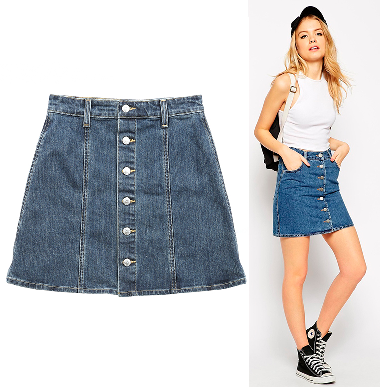 What Do You Wear With A Denim Skirt