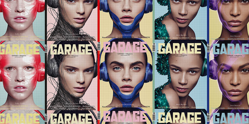 Kendall cara and lara for garage magazine