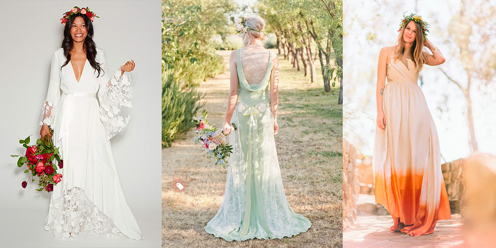 10 unique wedding dresses for the non traditional bride