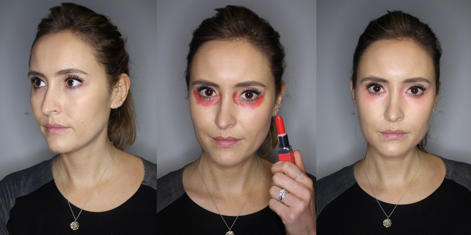 Can Red Lipstick Conceal Dark Circles