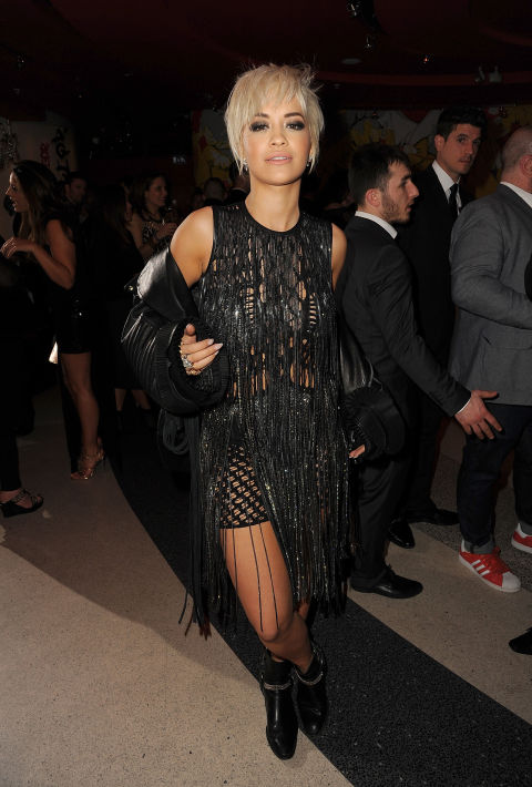 Orlando Bloom was loving Rita Ora's shimmery, plunging jumpsuit, but that didn't stop her from changing into this fringed and fabulous dress. <br /><br /><br /><br /><br /><br /><br /><br /><br /><br /><br /><br /><br /><br /><br /><br /><br /><br /><br />