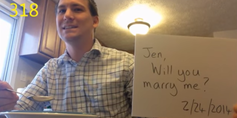 Watch This Guy Propose To His Girlfriend 365 Times Without Her Knowing 2