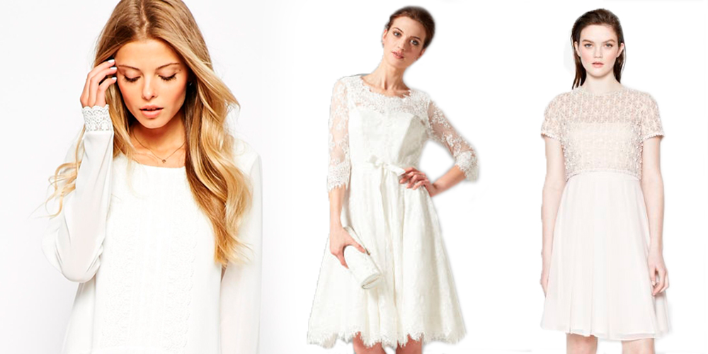 Alternative budget wedding dresses from the high street for Alternative to wearing a wedding dress