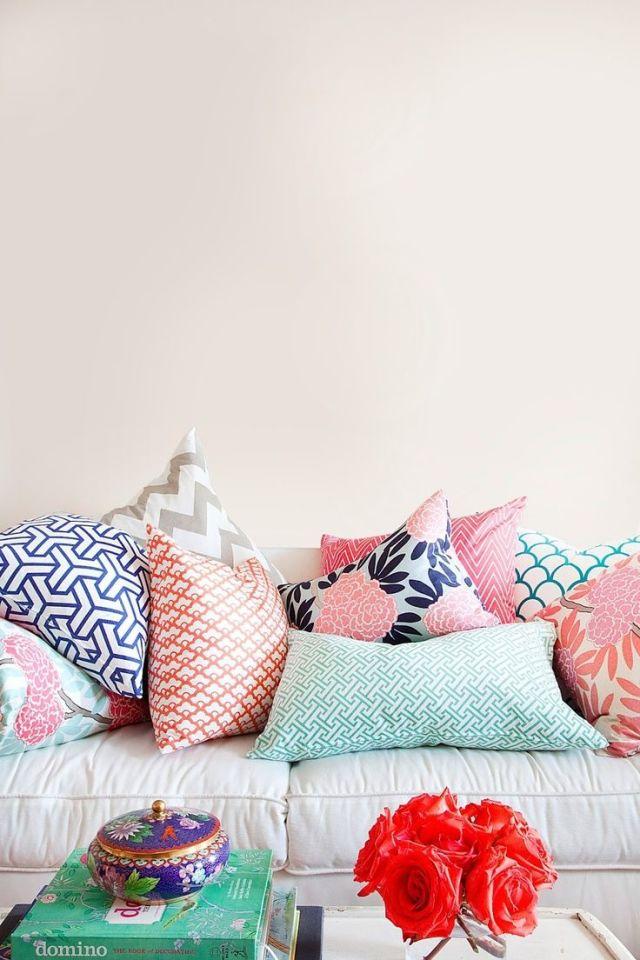 Summer Home Decor Ideas: colourful cushions