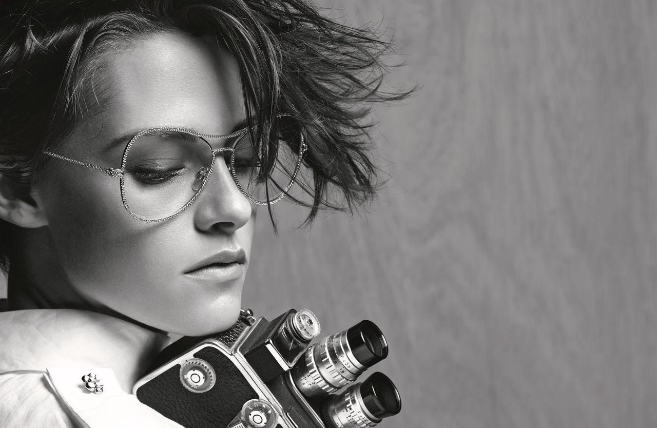 Kristen Stewart modelling Chanel eyewear