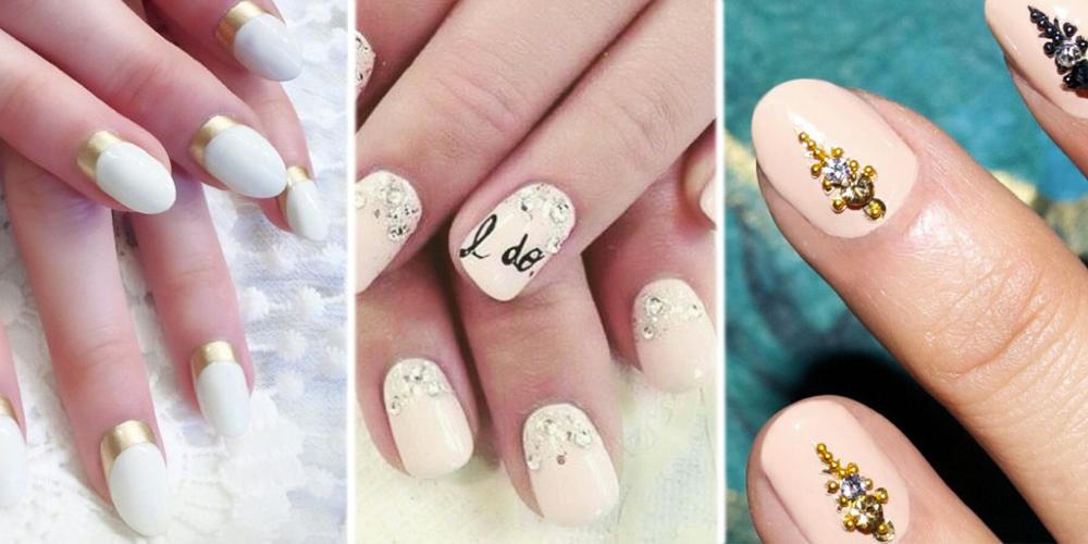 Pics photos wedding nailart idea nail art little finger jpg