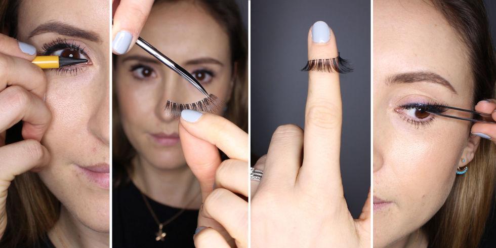 How to apply false eyelashes - expert fake eyelash application tips