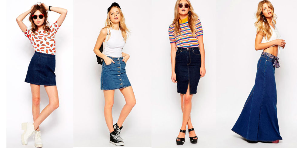 Denim Skirt How To Wear