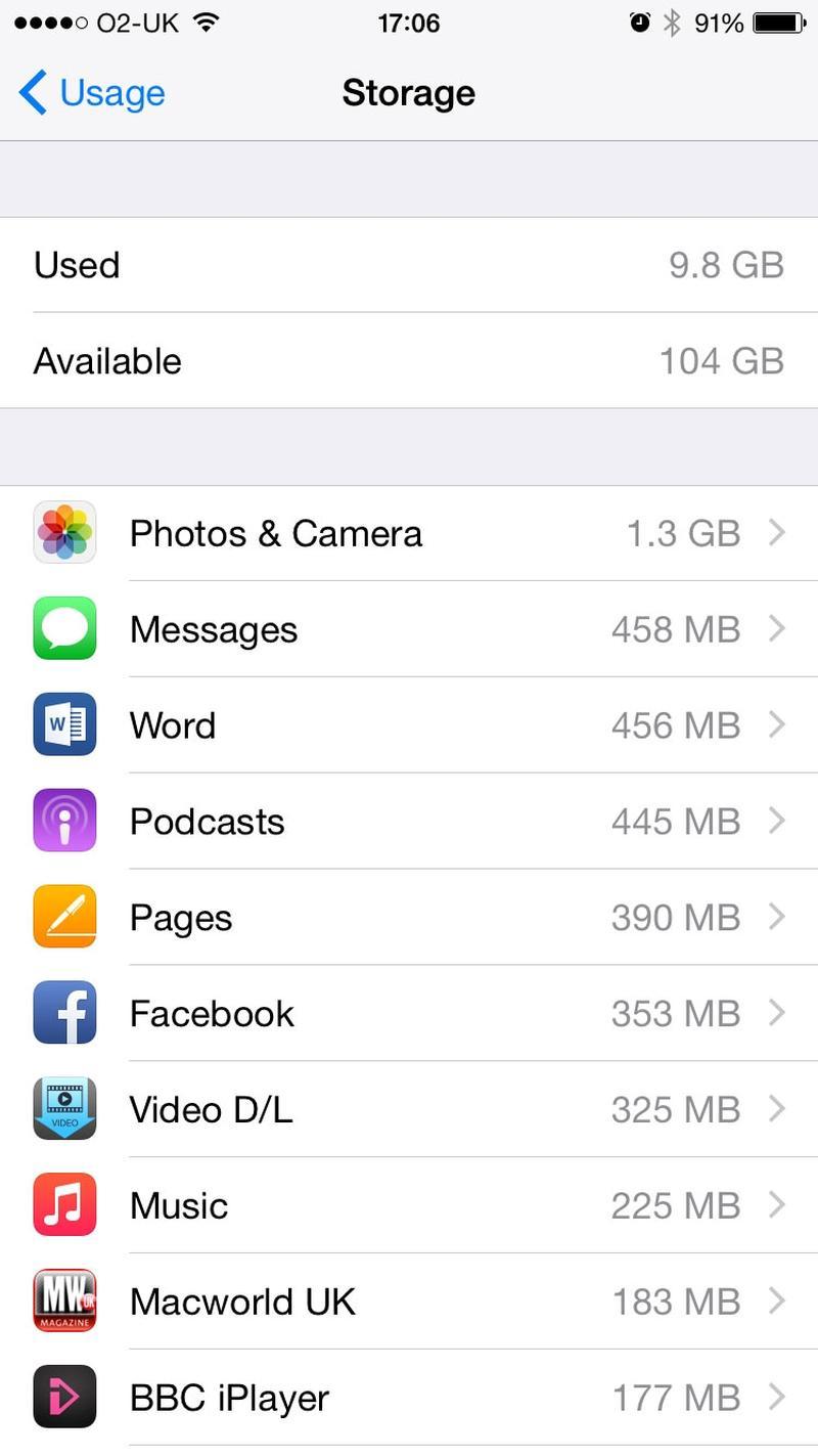 iPhone storage trick