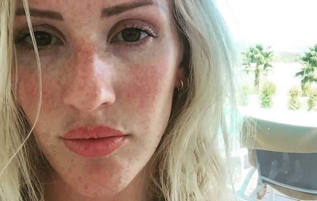 """Cougar Life Reviews >> Ellie Goulding's freckles reveal she's a """"natural redhead"""""""