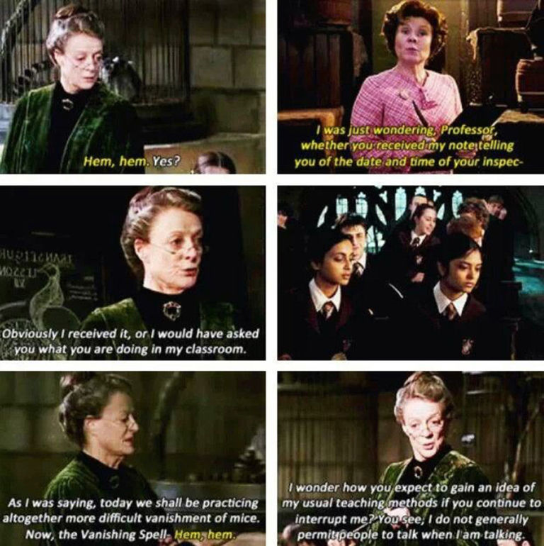 Professor McGonagall the queen of sass