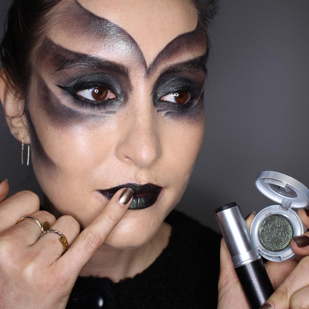 sweet jade tears: halloween makeup - black spirit