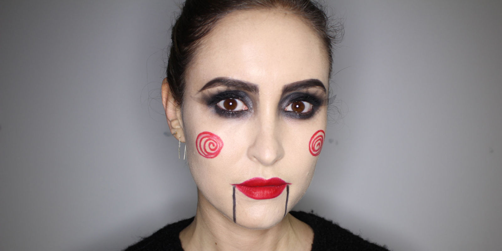 Halloween How-to The Saw Psycho Makeup Look