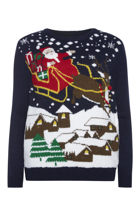 Light up Sled Christmas Jumper, £18, Primark