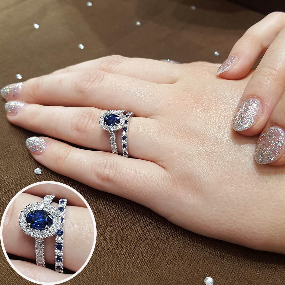 Unique And Amazing Engagement Ring And Wedding Ring