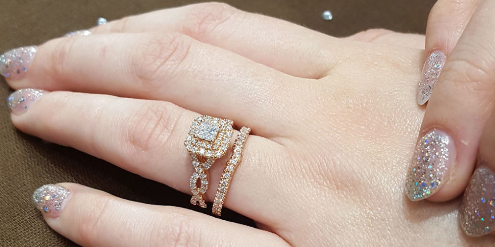 Exquisite wedding rings Wedding ring engagement ring combo