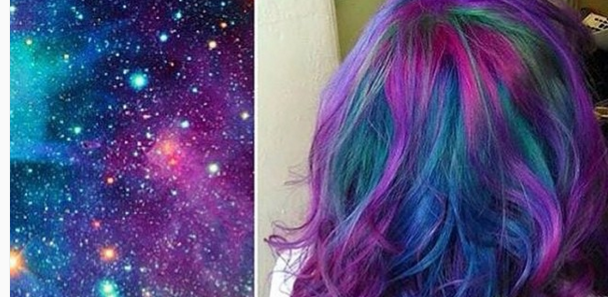 Colorful scene hair ideas