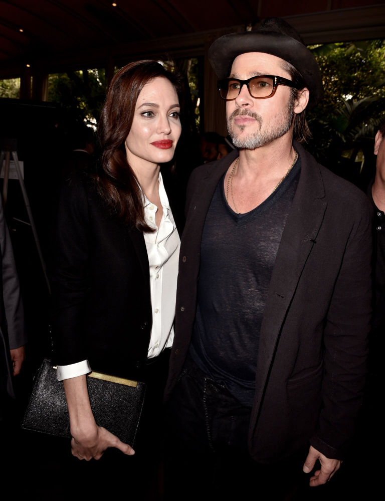 Brad Pitt and Angelina Jolie at the 2015 AFI awards