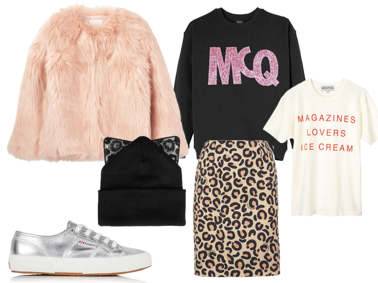 Layering: statement sweater and tee