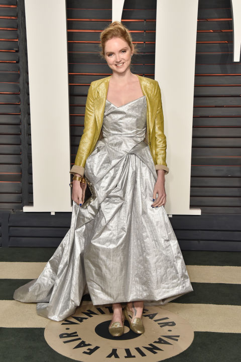 Oscars 2016 Vanity Fair after-party metallic dresses