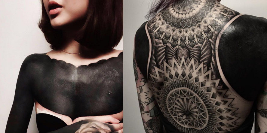 Blacked Out Tattoos: Black-out Tattoos Officially Exist In The World And They