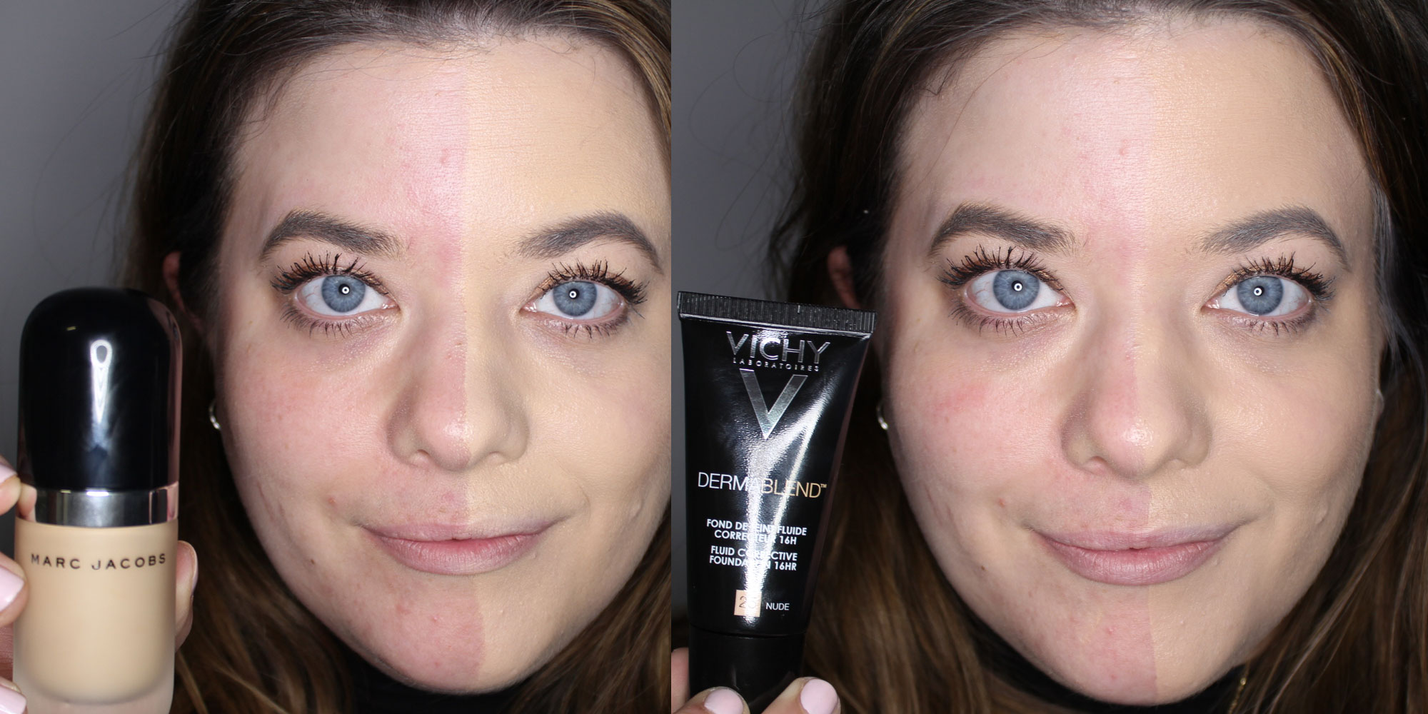 Full Coverage Foundations Tested On Half A Face We Trail