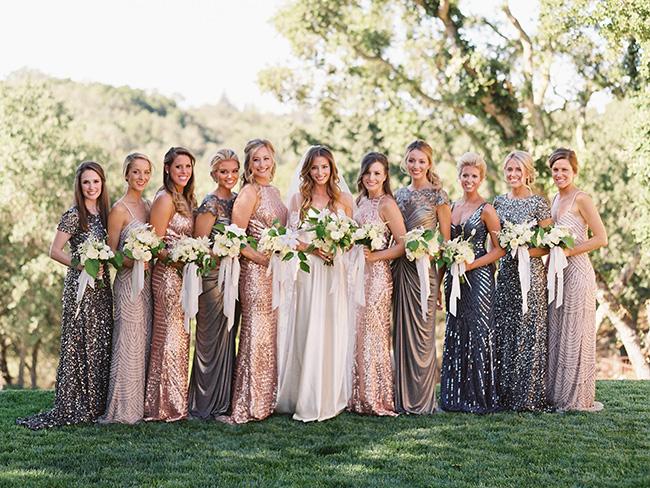Unique bridesmaid dress ideas for ballsy brides