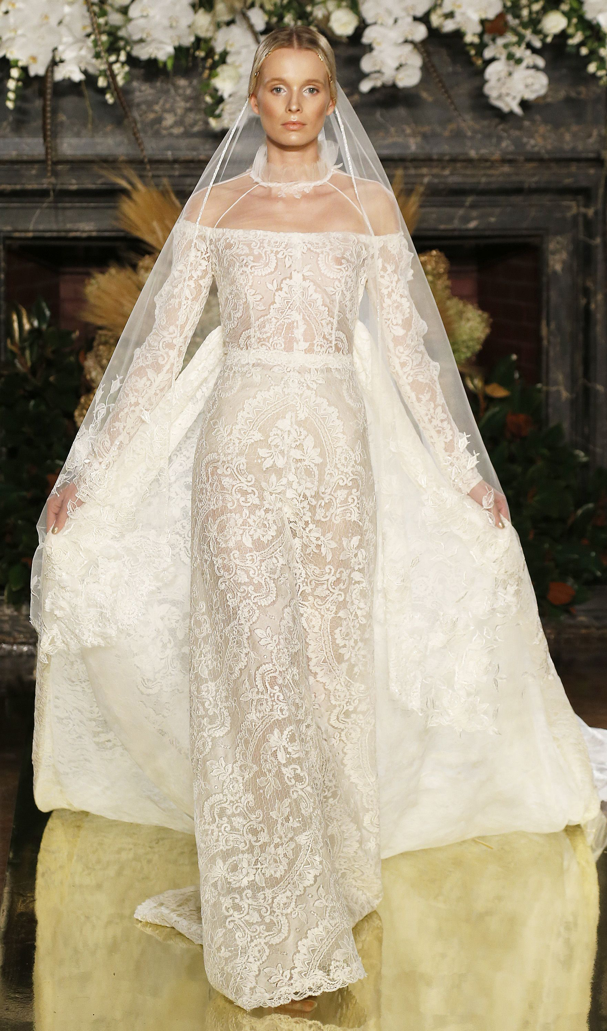 The most beautiful wedding dresses from new york bridal for World s most beautiful wedding dress