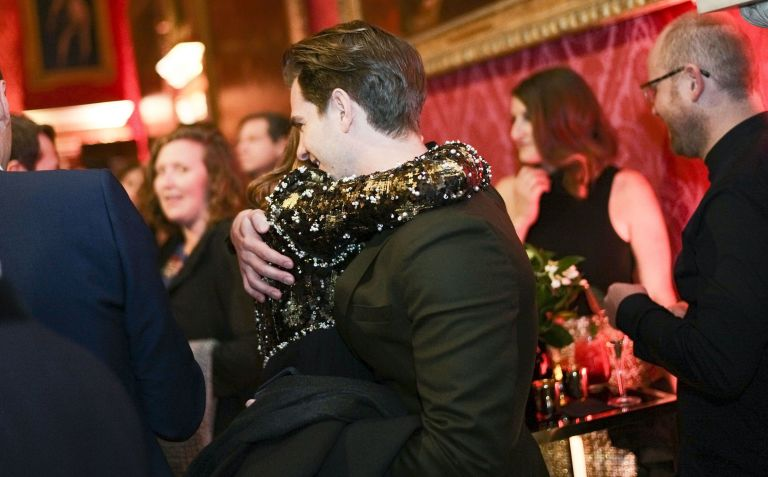 Andrew Garfield and Emma Stone hugging at a BAFTAs pre-party is emotional