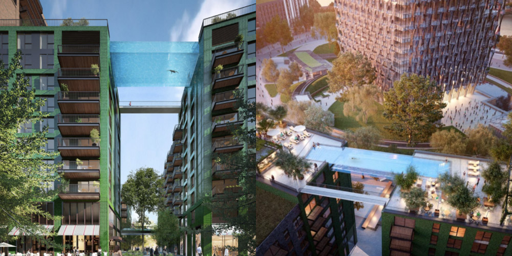A high rise floating swimming pool is being built in - Apartments with swimming pool london ...