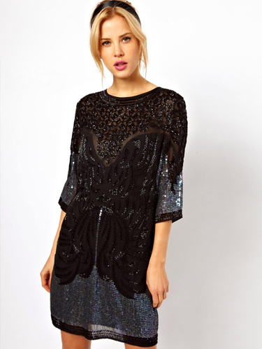 ... to wear to an office party :: Exciting black dresses for winter 2013