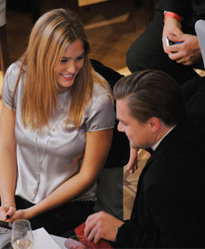 how did bar refaeli and leonardo dicaprio meet pope