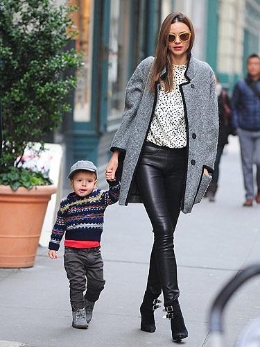 How To Wear Leather Trousers Like Miranda Kerr