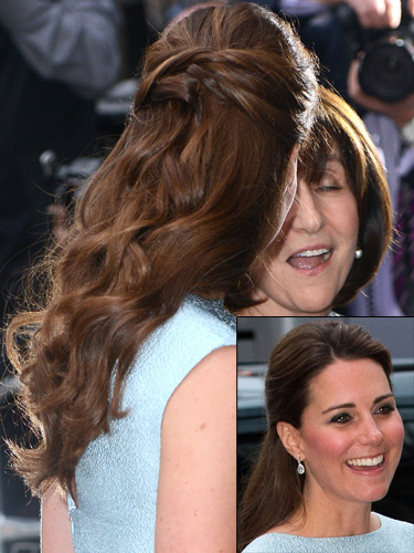 How to copy Kate Middleton's half up half down hairstyle