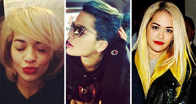Rita Ora Hair Singer Dyes Her Blue Hair Yellow: Rita Ora's New Hair Extensions