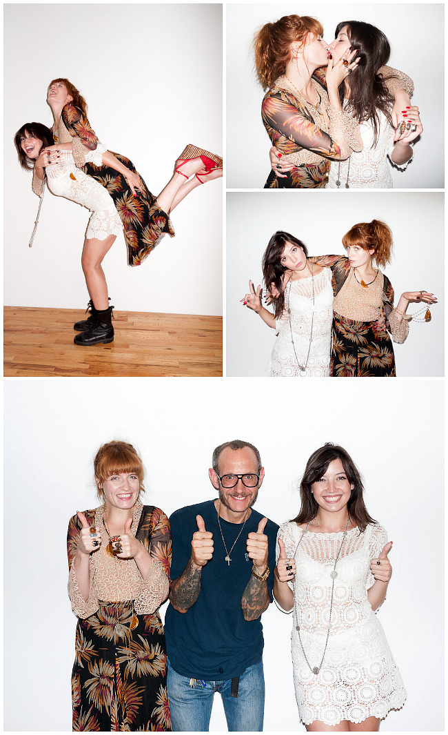 Daisy Lowe Florence Welch Kiss For Terry Richardson
